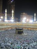 Night Mecca. Holle Kaaba in Mecca, Saudi Arabia stock images