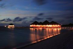 The night of medhufushi island Royalty Free Stock Photos