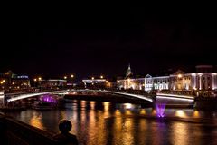 Night megalopolis. Center of Russia The Moscow stock image