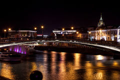 Night megalopolis. Night Old Moscow. street Lights stock photos