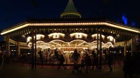 Night Merry Go-round Stock Photos