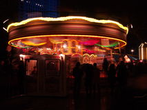 Night, Merry-go-round in motion II Stock Photo