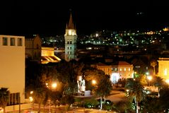 Night Messina in Sicily, Italy. Night city Messina in Sicily, Italy Royalty Free Stock Images