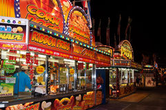 Night on the Midway. The midway at night at South Carolina State Fair Stock Photography