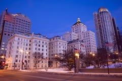 Night in Milwaukee Royalty Free Stock Photo