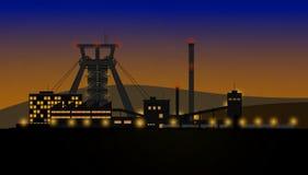 Night mine complex Stock Image