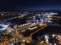 Night Minsk stock photo