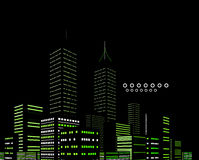 Night modern city vector abstract background Stock Image