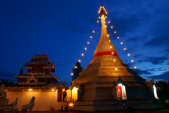 A Night Monastery. This is monastery in Mae Hong Son at Thailand stock photos