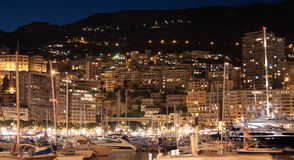 Night Monte Carlo. Night view of Monter Carlo, Monaco Royalty Free Stock Photos