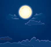 Night moon Royalty Free Stock Photography