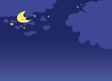 Night moon stock image