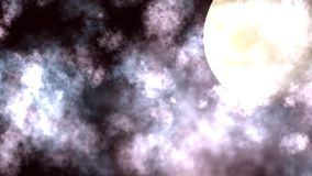 Night Moon Cloudscape Animation stock video footage