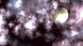 Night Moon Cloudscape Animation stock video