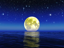 Night moon.Elements Of This Image Furnished By Nasa. Royalty Free Stock Photos