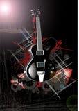 Night moon guitar Royalty Free Stock Photo