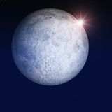 Night Moon and Stars Stock Photography
