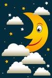 Night moon Stock Photo