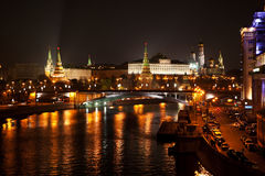 Night Moscow. Moscow at Night, the view on the towers of the kremlin Stock Photography
