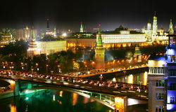Night Moscow Royalty Free Stock Photography