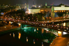 Night Moscow. Kind to the Kremlin stock photos