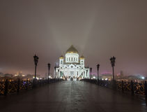Night Moscow,the Cathedral of Christ the Savior Royalty Free Stock Photography