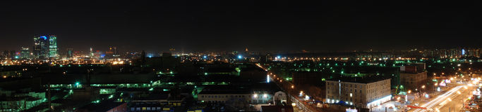 Night Moscow City skyline Royalty Free Stock Photos