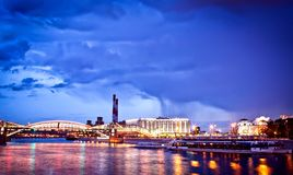 Night Moscow cityscape Stock Photography