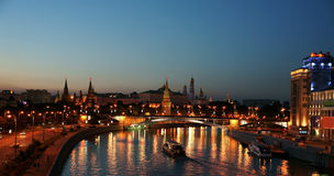 Night Moscow, the Kremlin. Stock Photography