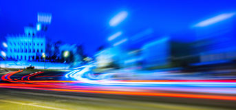 Night Moscow long exposure abstraction Royalty Free Stock Images