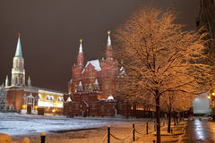 Night Moscow. Red square. Russia Royalty Free Stock Image