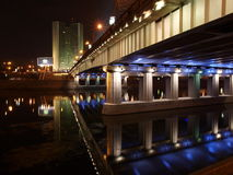 Night Moscow the river Royalty Free Stock Photo