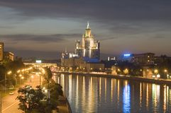 Night Moscow river royalty free stock image