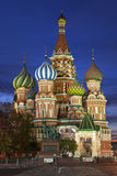 Night Moscow. St. Basil's Cathedral Royalty Free Stock Images