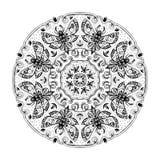 Night Moths Black And White Mandala Royalty Free Stock Images