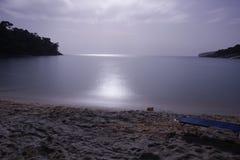 Night-motion. This photo was taken in Greece, Thasos island, Aliki Stock Photography