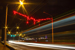 Night Motion On Urban Streets Royalty Free Stock Photos