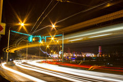 Night Motion On Urban Streets Royalty Free Stock Images