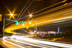 Night Motion On Urban Streets Stock Images