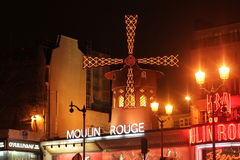 Night Moulin Rouge Royalty Free Stock Photo