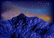 Night mountain Stock Photo