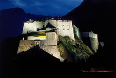 Night mountain fort Royalty Free Stock Photography