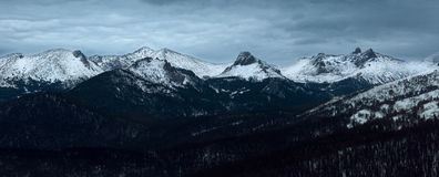 Night mountain landscape. Siberian Natural Park Ergaki. Russia i Stock Photo