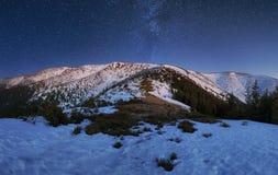 Night mountain panorama in Slovak republic, Low Tatras Royalty Free Stock Photos
