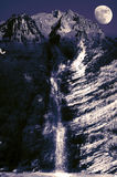 Night mountain waterfall Royalty Free Stock Images
