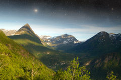 Night in the mountains Royalty Free Stock Photography
