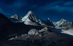 Night in the mountains Stock Photography