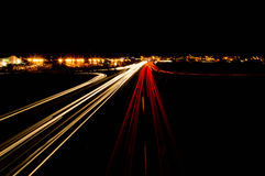 Night Movement city Royalty Free Stock Image