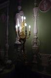 Night in museum. Museum interior in night lighting Stock Photo