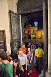 Night of Museums in Bucharest - George Enescu National Museum. Visitors at George Enescu National Museum, Cantacuzino Palace, with the occasion of The European Royalty Free Stock Image